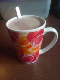 "Rezept: Getränk ""Heiße Schokolade mit Schokosirup"""