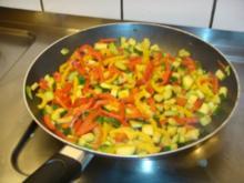 Steak auf Gemüsebeet - Rezept