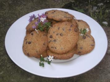 .Vanille-Cookies mit Schokostückchen. - Rezept