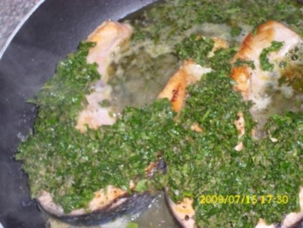 Fisch:  Lachssteak mit Kräutersalsa - Rezept - Bild Nr. 2