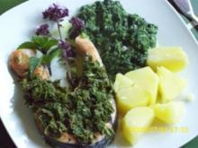 Fisch:  Lachssteak mit Kräutersalsa - Rezept