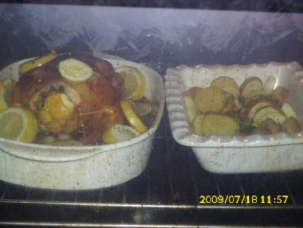 Fleisch:  Rosmarin-Zitronen-Hähnchen - Rezept - Bild Nr. 3