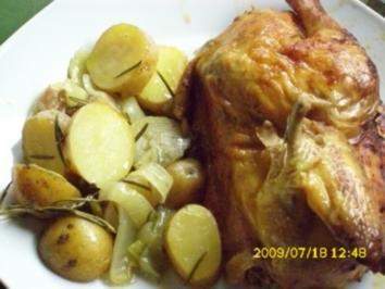 Fleisch:  Rosmarin-Zitronen-Hähnchen - Rezept