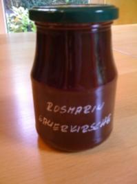 Sauerkirsch- Rosmarin - Konfitüre - Rezept
