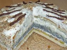 Mohn-Sahne-Torte - Rezept