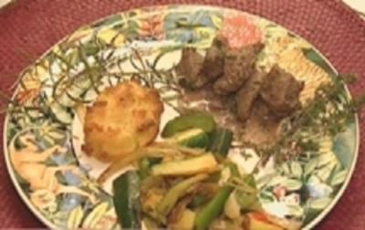 Fleischragout à la Mittelmeer mit Kartoffelbrot und Schmorgemüse - Rezept - Bild Nr. 9