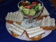 Abend-Brote mit Tomaten und Gurkenstückchen - Rezept