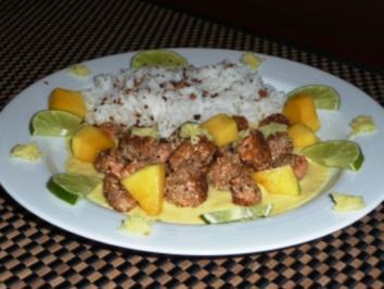 Fischnuggets im Sesam-Mantel mit exotischer Mangosoße - Rezept