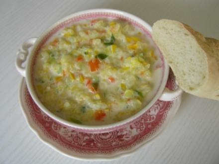 Zucchini-Gemüse-Suppe - Rezept