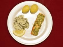 Lachsfilet mit Senfkruste und Gurkengemüse (Mickie Krause) - Rezept