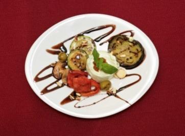 Ziegenkäse-Mousse an gebratenem mediterranen Gemüse (Jürgen Drews) - Rezept