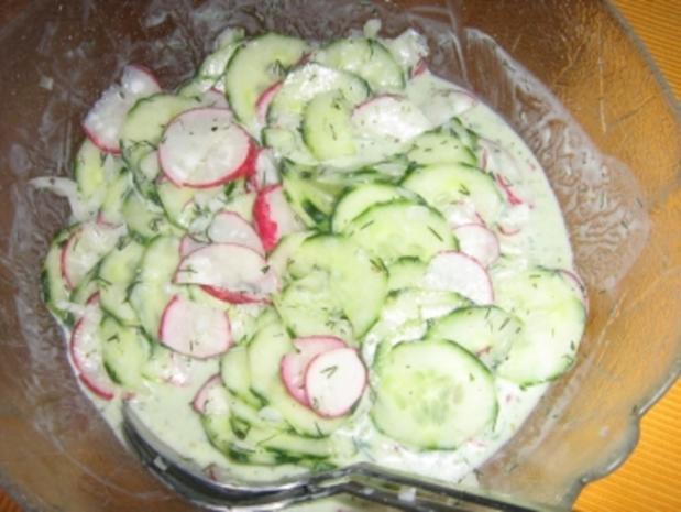 Gurkensalat mit Radieschen - Rezept - Bild Nr. 3