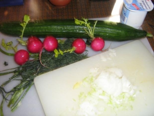 Gurkensalat mit Radieschen - Rezept - Bild Nr. 2