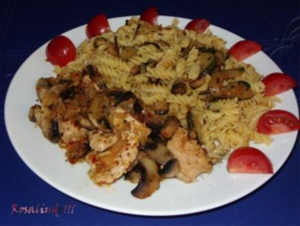 Linda´s Puten-Champignon-Geschnetzeltes mit Zucchini-Nudeln - Rezept