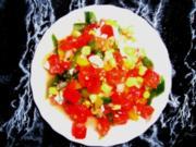 Bunter Tomatensalat - Rezept