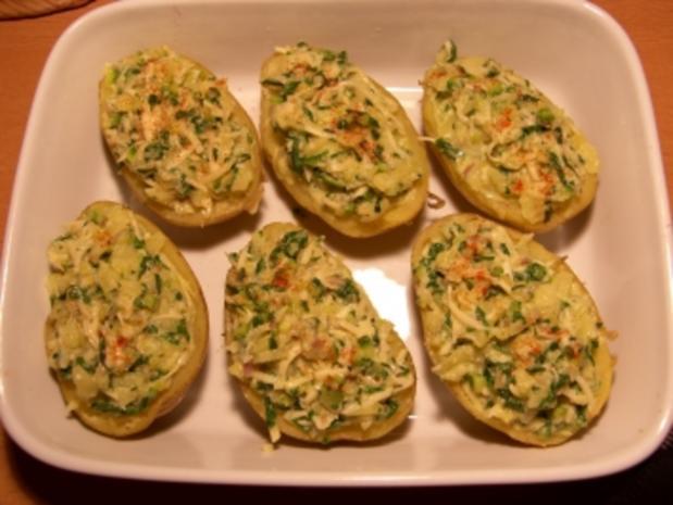 Kartoffel mit Rucolafüllung - Rezept