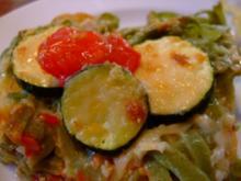 NUDELAUFLAUF mit Zucchini & Tomaten - Rezept