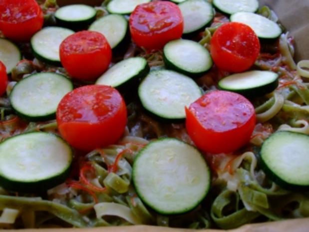 NUDELAUFLAUF mit Zucchini & Tomaten - Rezept - Bild Nr. 3