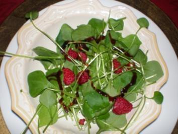 Salat Portulak mit Himbeeren - Rezept