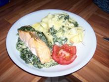 Fischgericht - Lachs auf Blattspinat - Rezept