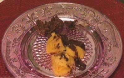 Mangosorbet mit heißer Schokosoße - Rezept