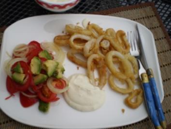 Calamaris mit leichter Aioli - Rezept