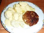 Buletten mit Blumenkohl,Kartoffeln und Sauce Hollandaise - Rezept