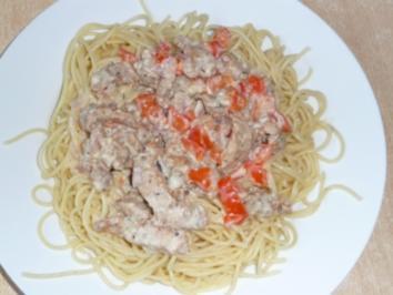 Spaghetti mit Gyrossauce - Rezept