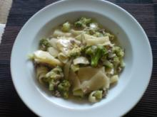 Pasta mit Broccoli und Hack - Rezept