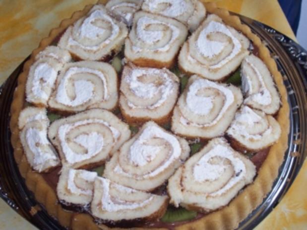 Kuchen - Bisquitschneckentorte - Rezept - Bild Nr. 3