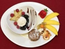 Warmer Schokoladenkuchen an geeister Vanillesoße - Rezept