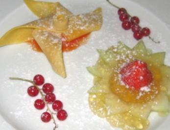 Crêpes mit Ingwer-Orangengelee an Obstblüte - Rezept