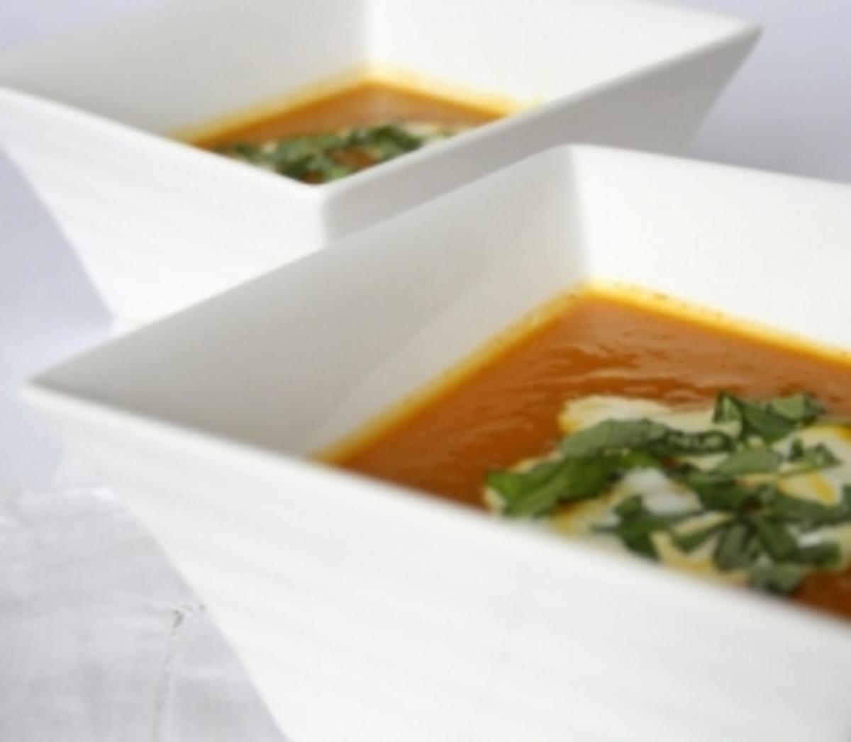 Karottencremesuppe mit Plup - Rezept By enaspice