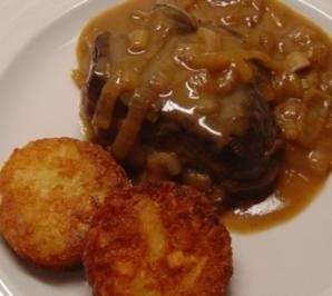 Steak mit Zwiebel-Senf-Sauce - Rezept
