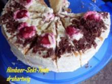 Sekt-Himbeer-Torte - Rezept