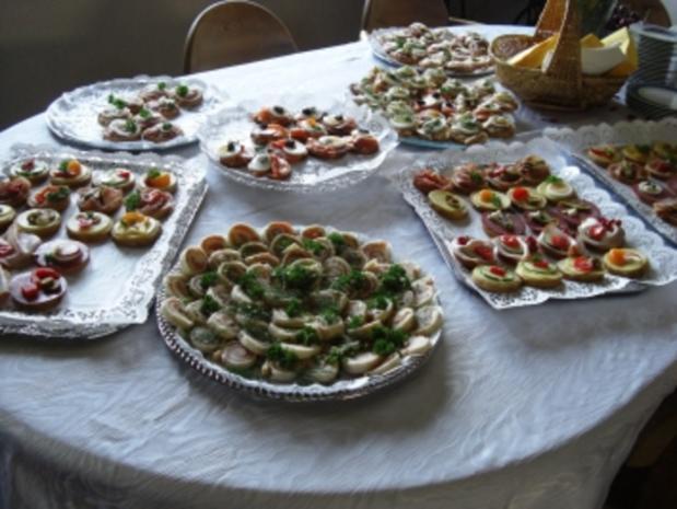 Gäste-Sektempfang mit Häppchen - Rezept