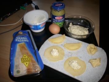 Ravioli mit Ricotta-Basilikum-Pesto-Füllung - Rezept