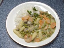 Feines Gemüse auf Reis - Rezept