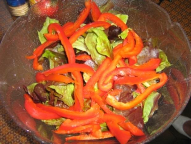 Salat rot-grün mit Kartoffeldressing - Rezept - Bild Nr. 3
