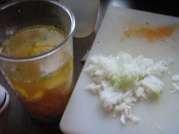 Salat rot-grün mit Kartoffeldressing - Rezept - Bild Nr. 5