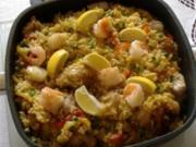 Arroz con pollo,cerdo,pescado y mariscos - Rezept