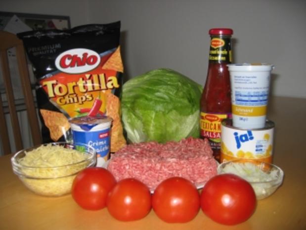 Schichtsalat mit Hack und Tacos - Rezept - Bild Nr. 2