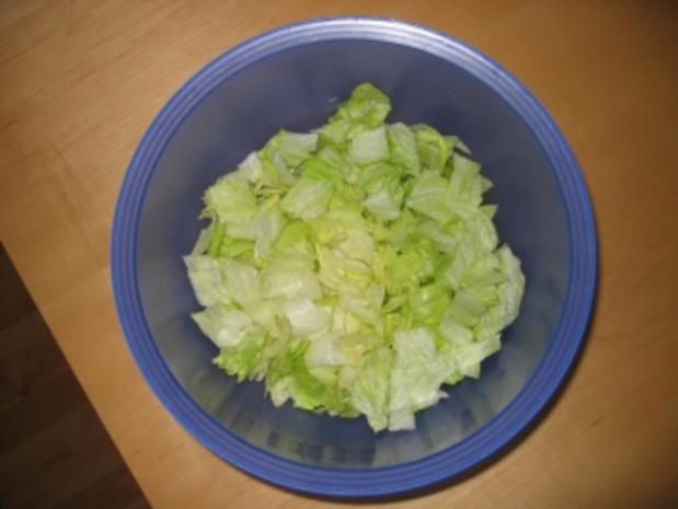 Schichtsalat mit Hack und Tacos - Rezept - Bild Nr. 3