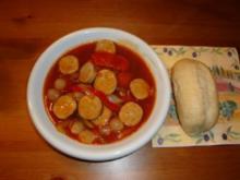 Currywurst Gulasch - Rezept