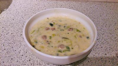 Käse-Lauch-Suppe mit Hackfleisch - Rezept - Bild Nr. 2