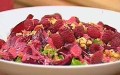 Rezept: Feldsalat mit Himbeerdressing