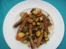Mittagessen: Nürnberger Bratwurst auf mediterrane Art - Rezept