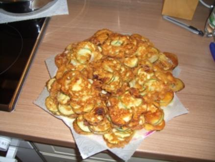Party-Buffet   -   gebackene Zucchinis - Rezept