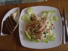 Apfel-Wurstsalat mit Calvados - Rezept