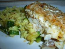 Zucchini-Reis-Pfanne mit Schlemmerfilet - Rezept